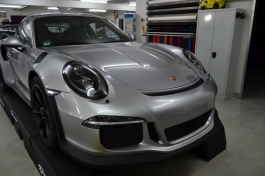 Porsche GT 3 RS silber-grau - Motorhaube