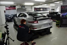 Porsche GT 3 RS silber-grau - Stoßstange